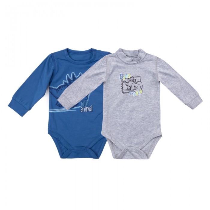 Боди и песочники Playtoday Боди для мальчиков Маленький динозаврик 2 шт. 187818 одежда для детей