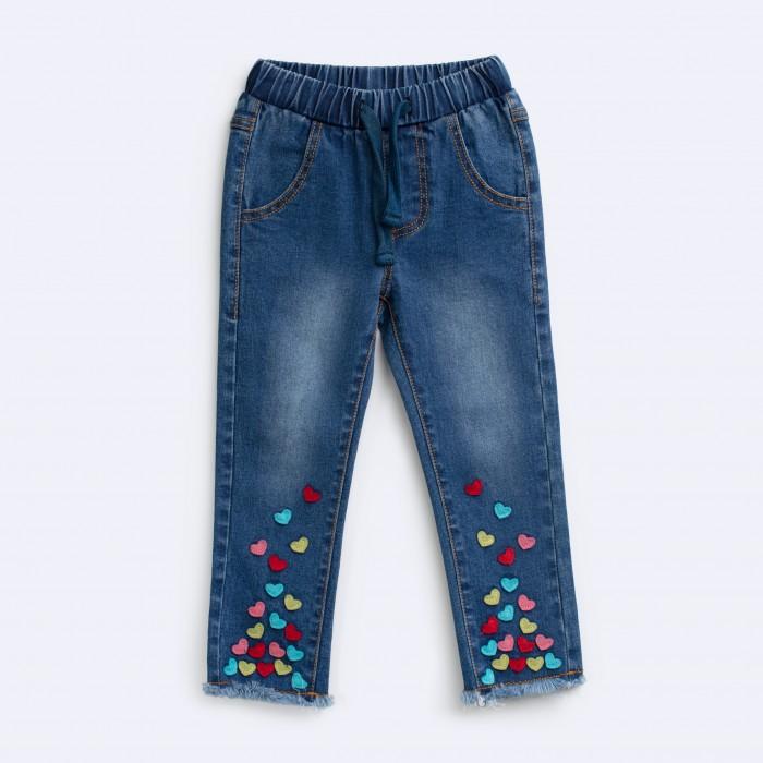 Купить Брюки, джинсы и штанишки, Playtoday Брюки детские текcтильные джинсовые для девочек Мисс Кисточка
