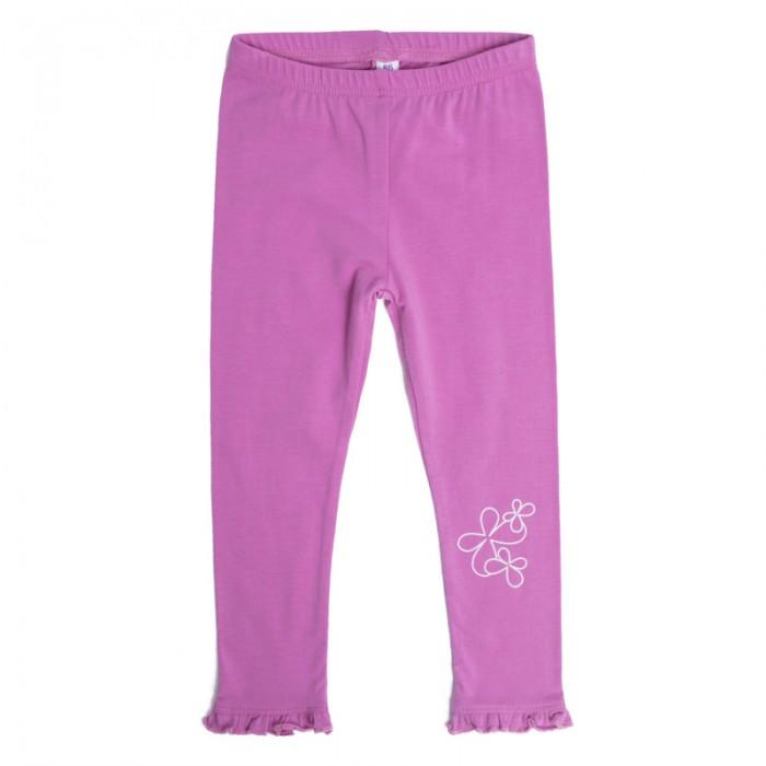 Брюки, джинсы и штанишки Playtoday Брюки детские трикотажные для девочек (легинсы) 2 пары Солнечная палитра 188066