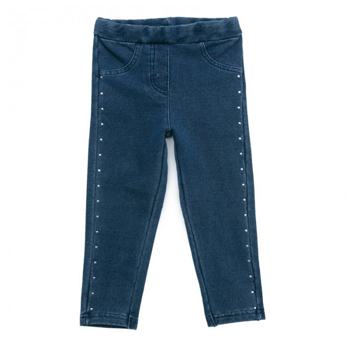 Брюки, джинсы и штанишки Playtoday Брюки детские трикотажные для девочек Морозные кружева 378069