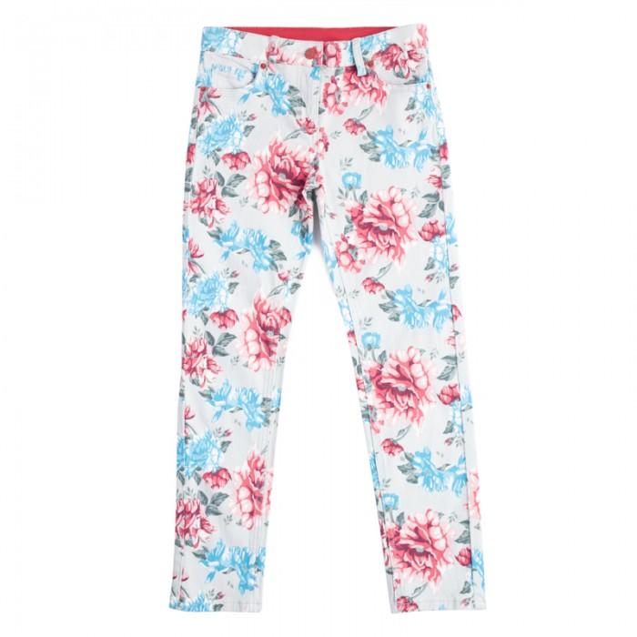 Детская одежда , Брюки, джинсы и штанишки Playtoday Брюки для девочек Пионы 182104 арт: 458091 -  Брюки, джинсы и штанишки
