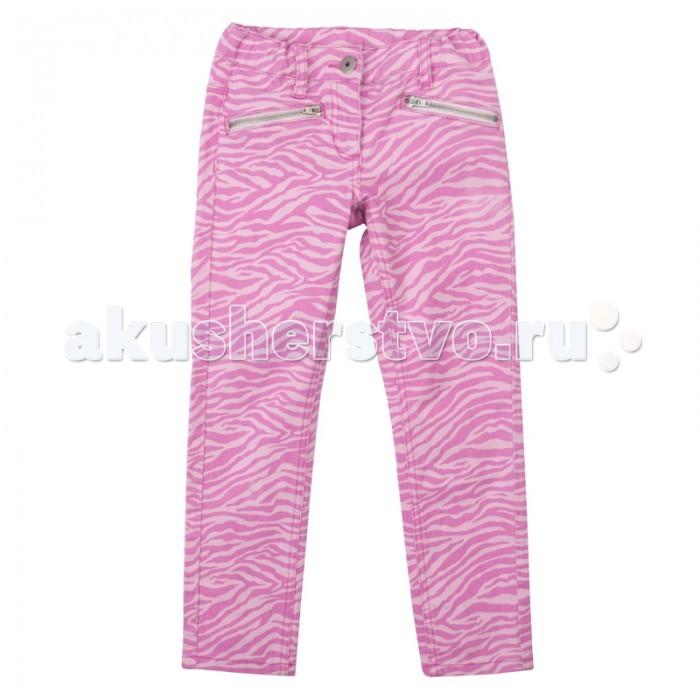 Брюки, джинсы и штанишки Playtoday Брюки для девочки Яркие штрихи 172059 джинсы playtoday джинсы
