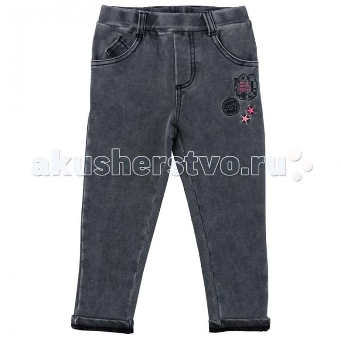 Брюки, джинсы и штанишки Playtoday Брюки для девочки Папина дочка 178013 брюки джинсы и штанишки playtoday джинсы для девочки фруктовый лед 172169