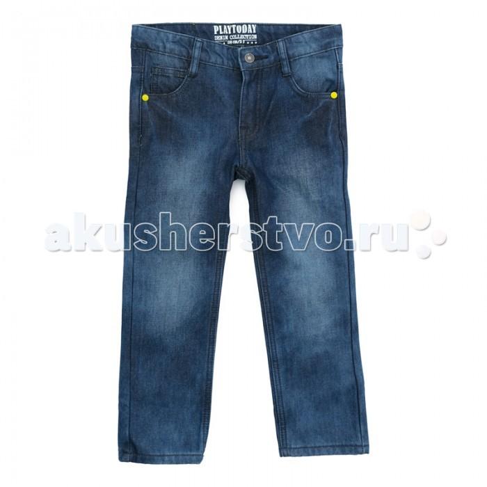 Детская одежда , Брюки, джинсы и штанишки Playtoday Брюки джинсовые для мальчиков Арктика 371121 арт: 364777 -  Брюки, джинсы и штанишки
