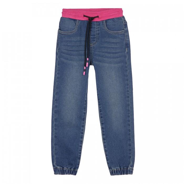 Брюки и джинсы Playtoday Брюки текстильные джинсовые для девочек 12122963 брюки и джинсы playtoday полукомбинезон текстильный для девочек солнечная палитра 188070