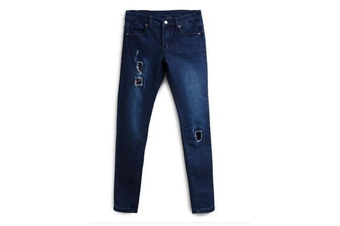 Купить Брюки, джинсы и штанишки, Playtoday Брюки текстильные джинсовые для девочек Искорка