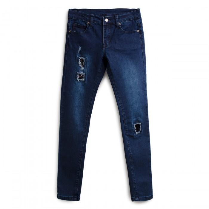 Купить Брюки, джинсы и штанишки, Playtoday Брюки текстильные джинсовые для девочек Краски радуги