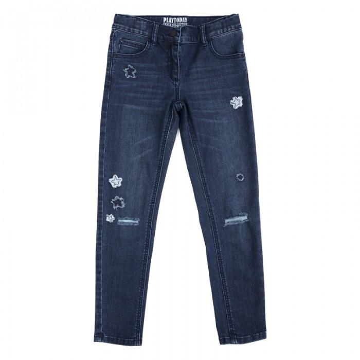 Детская одежда , Брюки, джинсы и штанишки Playtoday Брюки текстильные джинсовые для девочек Рок-принцесса 182009 арт: 451189 -  Брюки, джинсы и штанишки
