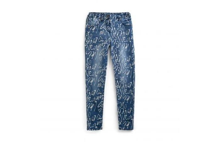 Купить Брюки и джинсы, Playtoday Брюки текстильные джинсовые для девочек Супер звезда 194101