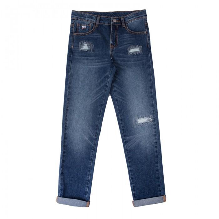 Детская одежда , Брюки, джинсы и штанишки Playtoday Брюки текстильные джинсовые для мальчиков Футбольный клуб 181007 арт: 457506 -  Брюки, джинсы и штанишки
