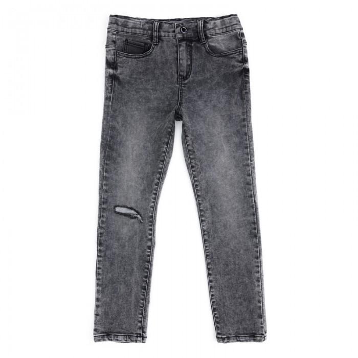 Брюки, джинсы и штанишки Playtoday Брюки текстильные джинсовые для мальчиков Рок-звезда 181056 джинсы playtoday брюки текстильные джинсовые