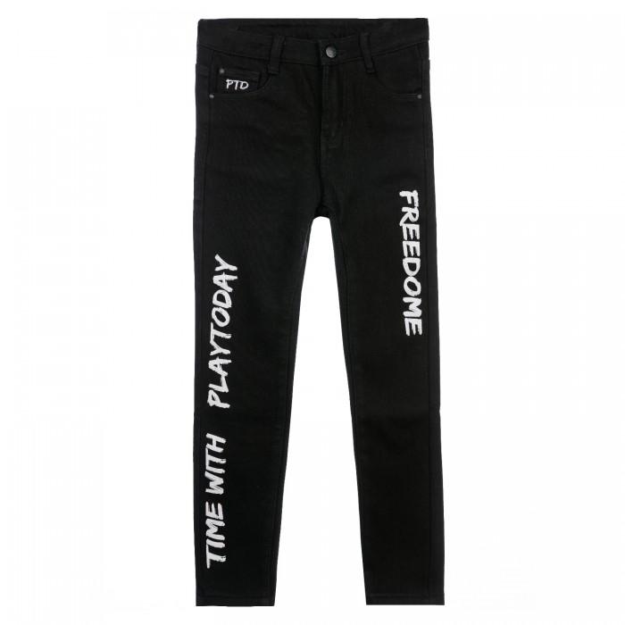 Брюки и джинсы Playtoday Брюки текстильные джинсовые утепленные для мальчиков 32111129