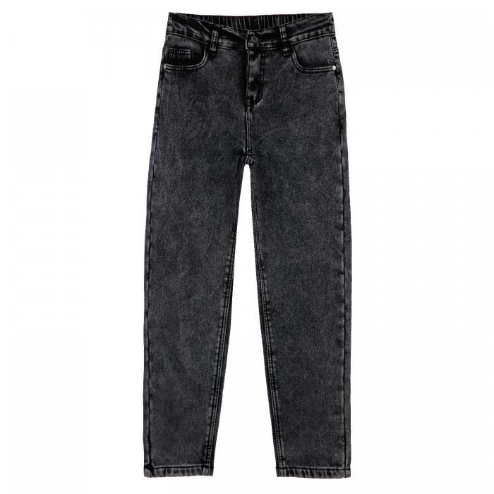 Брюки и джинсы Playtoday Брюки текстильные джинсовые утепленные флисом для девочек 32121101