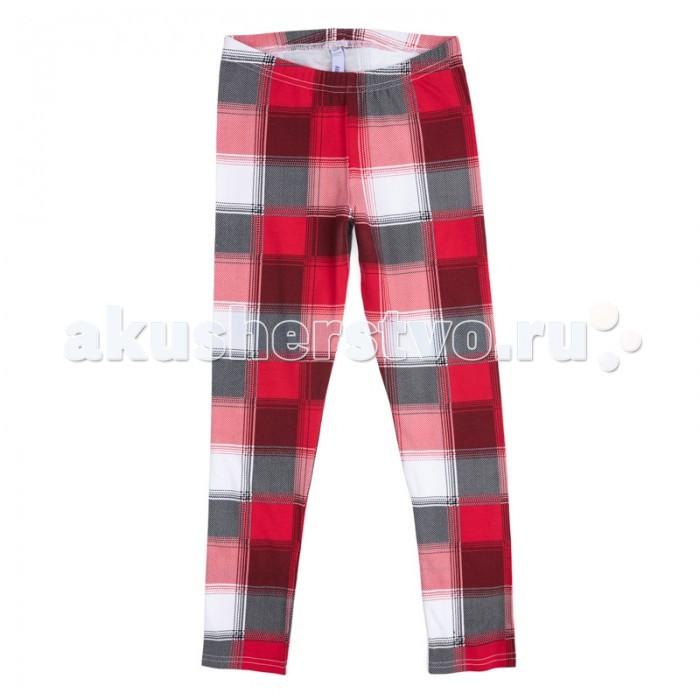 Брюки, джинсы и штанишки Playtoday Брюки трикотажные для девочек (леггинсы) Рок-принцесса 182018