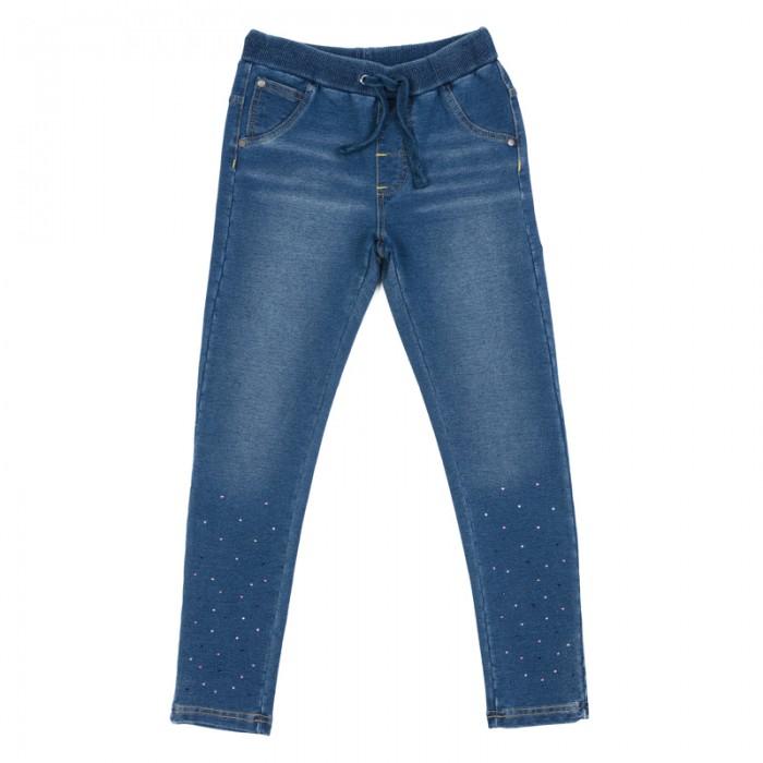 Брюки, джинсы и штанишки Playtoday Брюки трикотажные для девочек (леггинсы) Утро в Париже 182064 аксессуары playtoday заколка для волос для девочек 4 шт утро в париже 182737