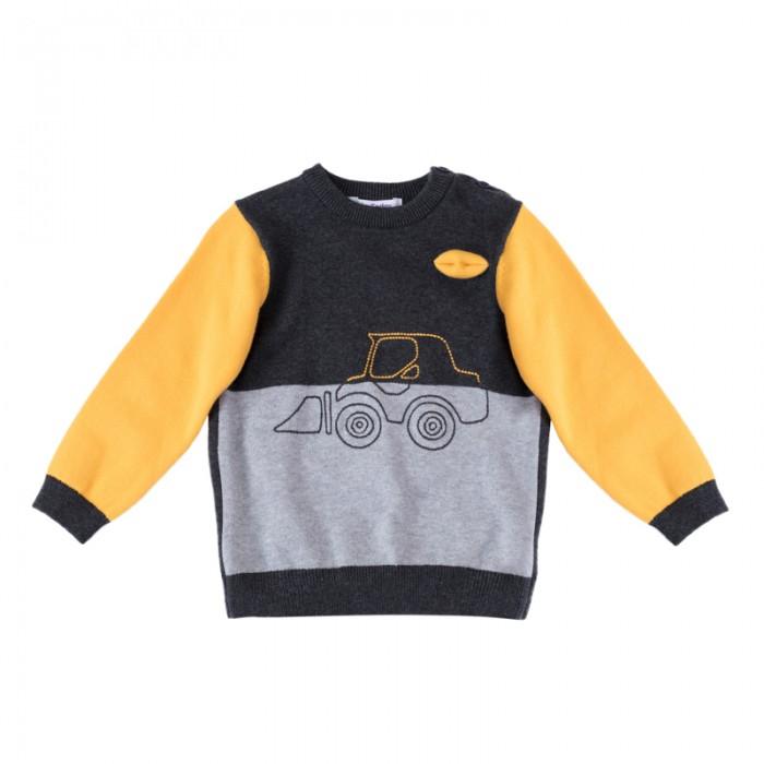 Детская одежда , Джемперы, свитера, пуловеры Playtoday Джемпер для мальчиков Маленькие строители 187009 арт: 451524 -  Джемперы, свитера, пуловеры