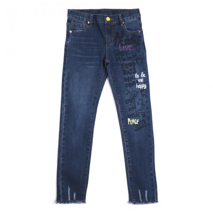Детская одежда , Брюки, джинсы и штанишки Playtoday Джинсы для девочек Диско-Радуга 182152 арт: 456461 -  Брюки, джинсы и штанишки