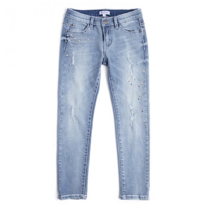 Детская одежда , Брюки, джинсы и штанишки Playtoday Джинсы для девочек Пионы 182101 арт: 458081 -  Брюки, джинсы и штанишки