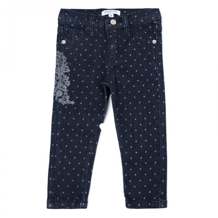 Брюки, джинсы и штанишки Playtoday Джинсы для девочек Золотой сад 388016, Брюки, джинсы и штанишки - артикул:576621