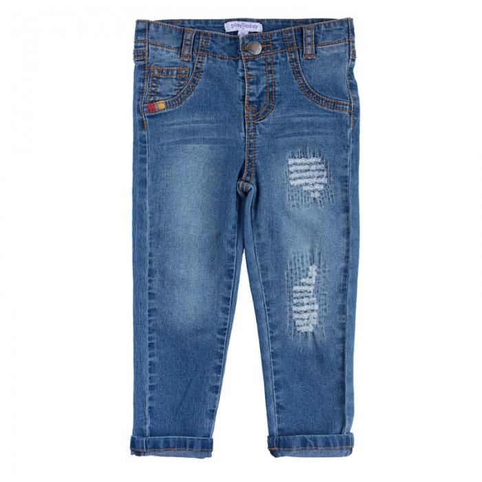 Детская одежда , Брюки, джинсы и штанишки Playtoday Джинсы для мальчика Джунгли зовут! 187051 арт: 455591 -  Брюки, джинсы и штанишки