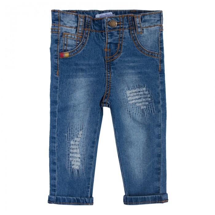 Брюки, джинсы и штанишки Playtoday Джинсы для мальчиков Веселые джунгли 187851