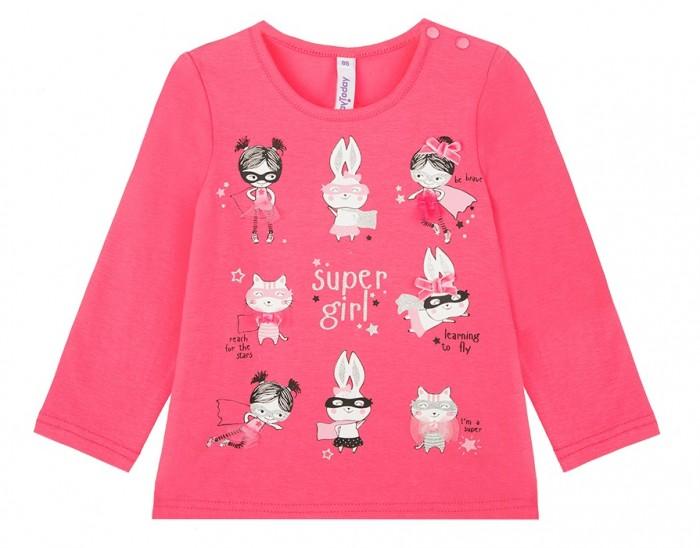 Купить Водолазки и лонгсливы, Playtoday Фуфайка для девочек Super Girl baby 32023419
