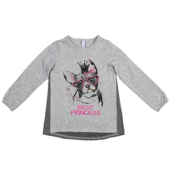 Водолазки и лонгсливы Playtoday Лонгслив трикотажный для девочек (футболка с длинным рукавом) Я - принцесса 372026 футболки и топы playtoday футболка трикотажная для девочек футболка рок принцесса 682003