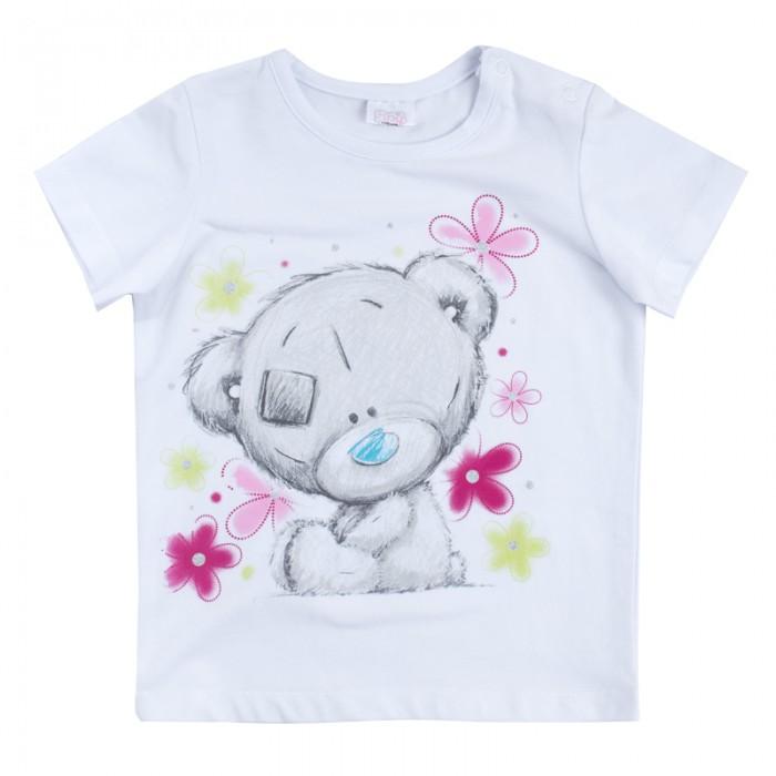 Футболки и топы Playtoday Футболка для девочек Мой цветочек 688851 футболки и топы playtoday футболка трикотажная для девочек футболка рок принцесса 682003