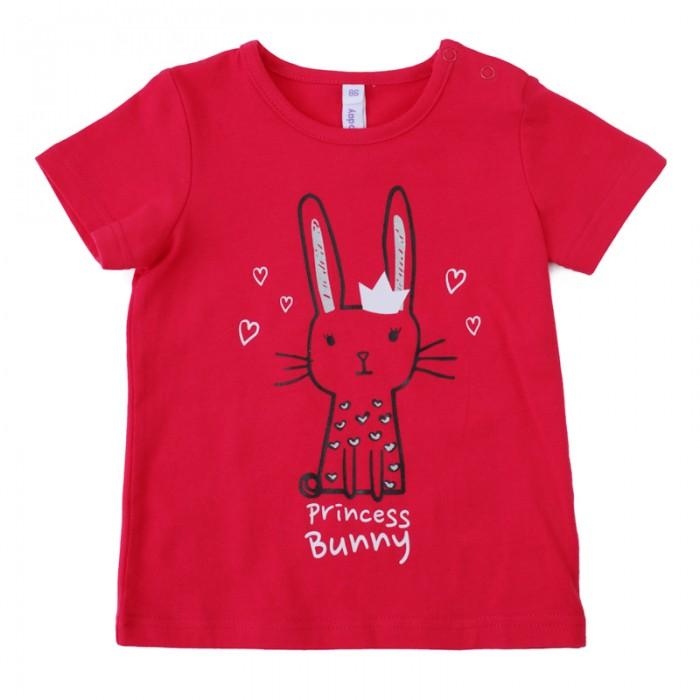 Футболки и топы Playtoday Футболка для девочек Забавный кролик футболки и топы playtoday футболка трикотажная для девочек футболка рок принцесса 682003