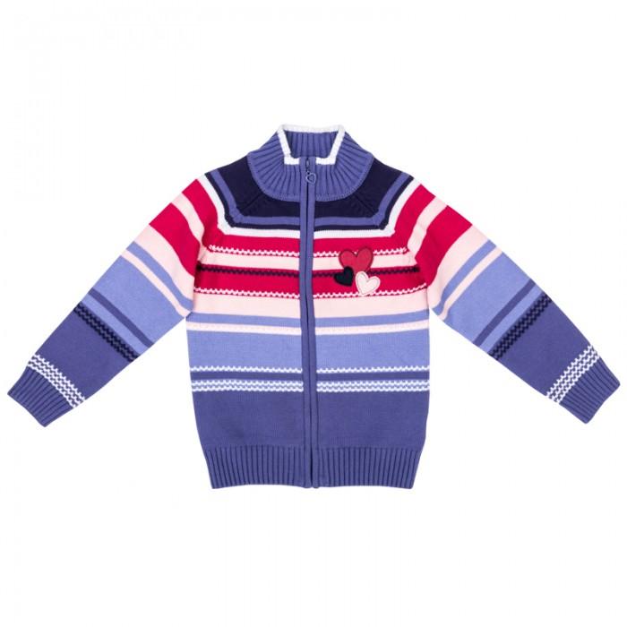 Детская одежда , Кофты и кардиганы Playtoday Кардиган трикотажный для девочек Осеннее настроение 372058 арт: 383394 -  Кофты и кардиганы