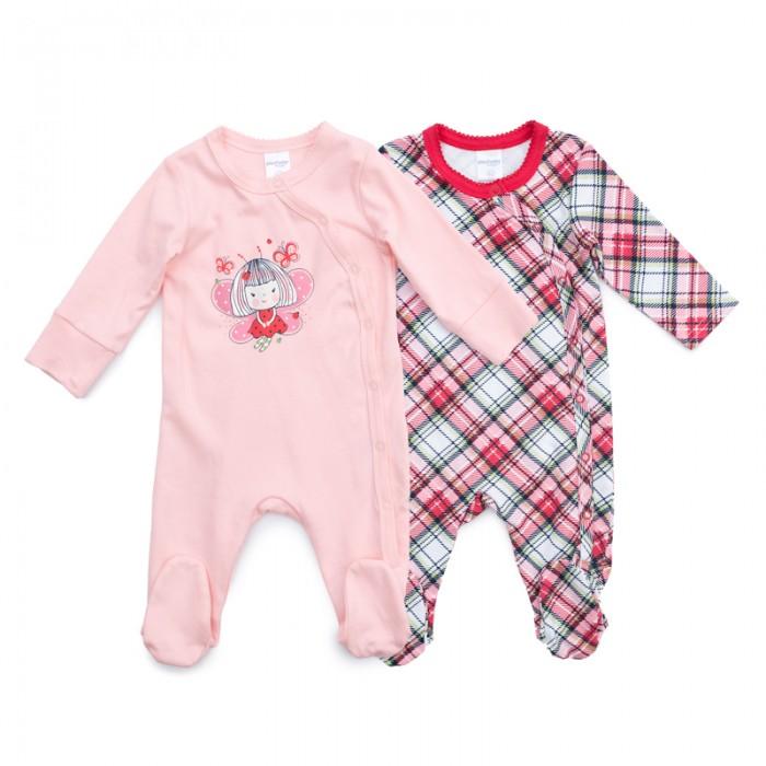 Детская одежда , Комбинезоны и полукомбинезоны Playtoday Комбинезон детский трикотажный для девочек 2 шт. Сладкая ягодка 378808 арт: 386664 -  Комбинезоны и полукомбинезоны