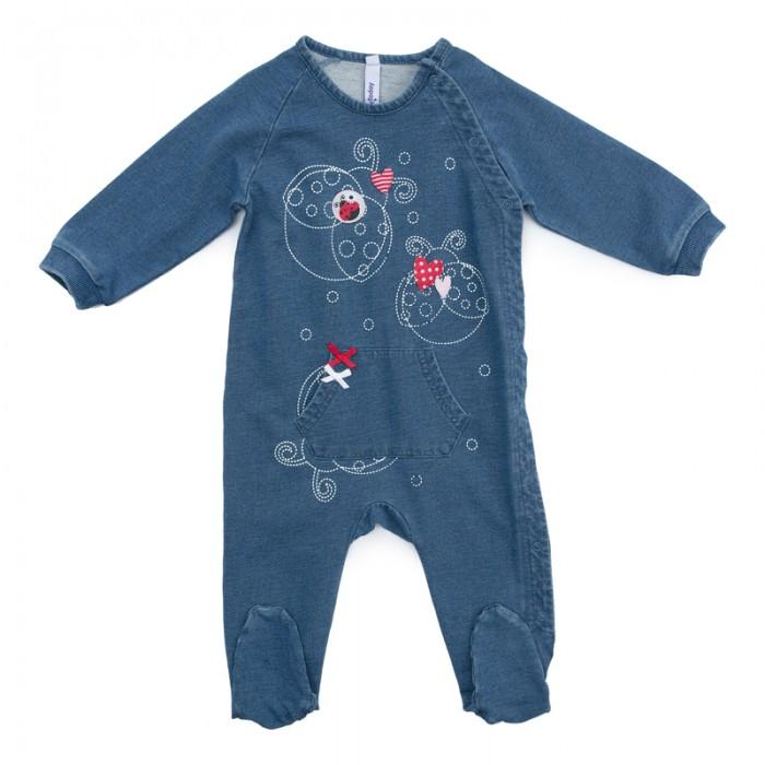 Детская одежда , Комбинезоны и полукомбинезоны Playtoday Комбинезон детский трикотажный для девочек Сладкая ягодка 378811 арт: 386684 -  Комбинезоны и полукомбинезоны
