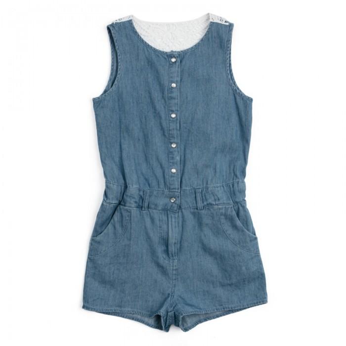 Детские платья и сарафаны Playtoday Комбинезон для девочек Пионы 182103 платья для девочек платья для девочек