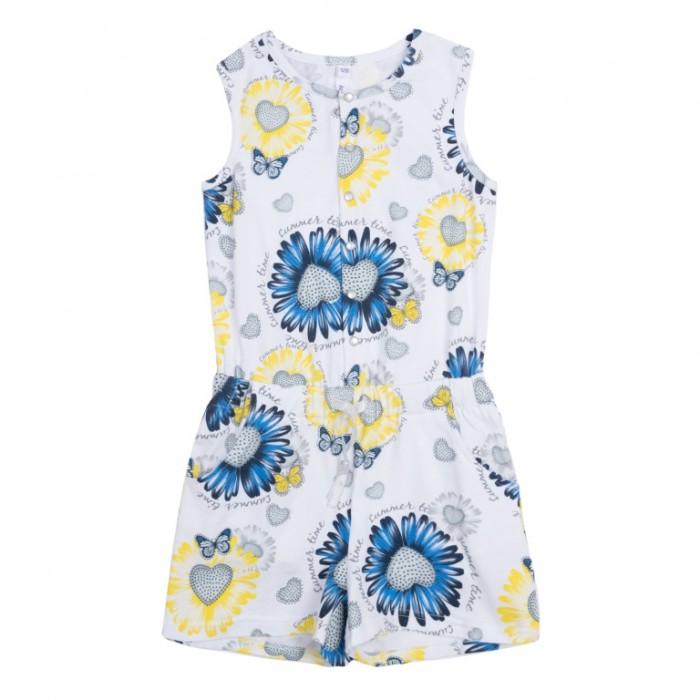 Детские платья и сарафаны Playtoday Комбинезон для девочки Летний букет детские платья и сарафаны playtoday