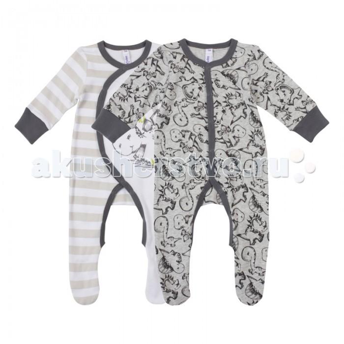 Детская одежда , Комбинезоны и полукомбинезоны Playtoday Комбинезон для мальчиков Маленький динозаврик 2 шт. 187817 арт: 452749 -  Комбинезоны и полукомбинезоны