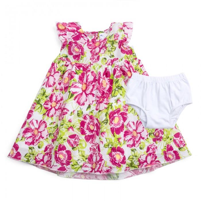 Детская одежда , Комплекты детской одежды Playtoday Комплект детский для девочек (платье и трусы) Солнечная палитра 188067 арт: 455826 -  Комплекты детской одежды