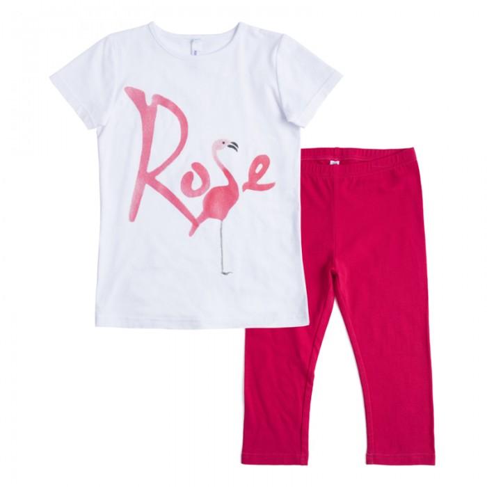 Комплекты детской одежды Playtoday Комплект для девочек (футболка, леггинсы) Пионы 182123 комплект luisa spagnoli одежда повседневная на каждый день