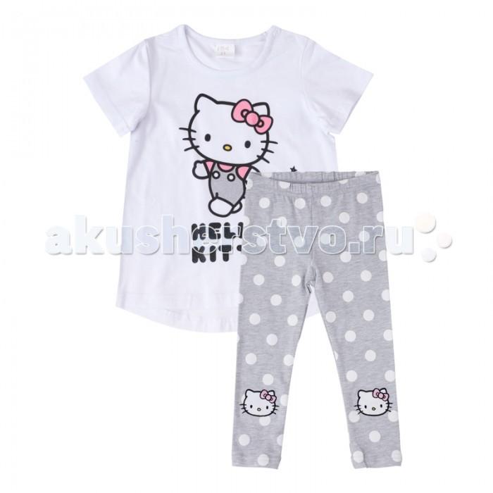 Комплекты детской одежды Playtoday Комплект для девочек (футболка, леггинсы) Забавный кролик 688005
