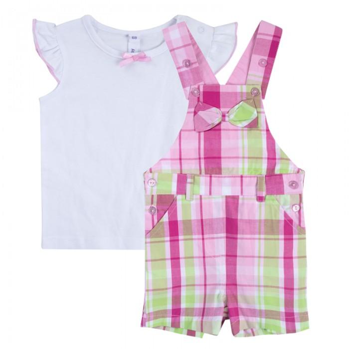 Детская одежда , Комплекты детской одежды Playtoday Комплект для девочек (футболка, полукомбинезон) Мой цветочек 188868 арт: 453739 -  Комплекты детской одежды