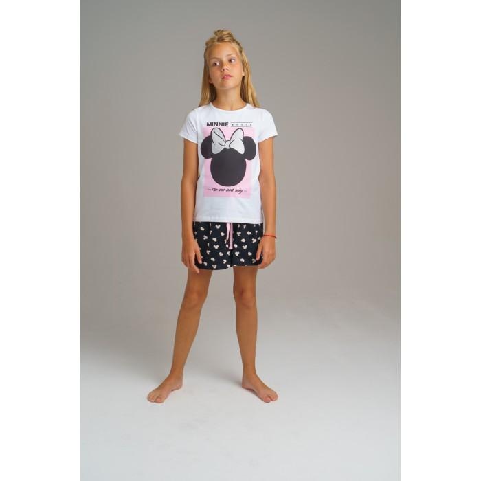 Купить Домашняя одежда, Playtoday Комплект для девочек (футболка, шорты) Home tween girls 2020