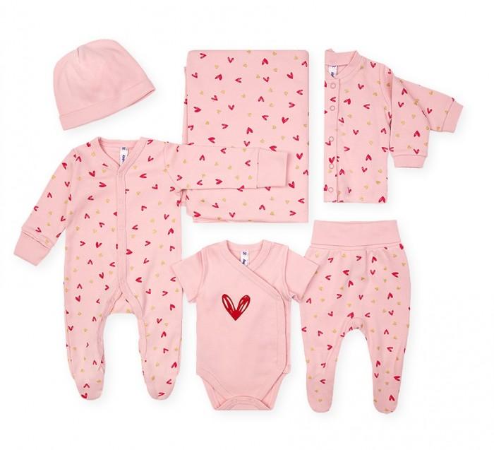 Комплекты детской одежды Playtoday Комплект для девочек (комбинезон, ползунки, кофточка, боди, шапка, пелёнка) Magic forest NB