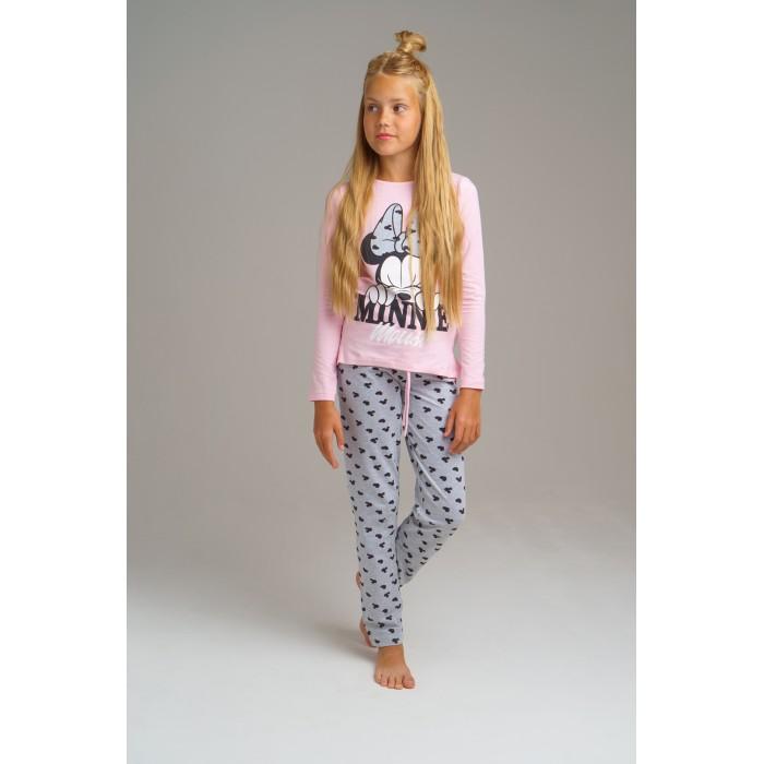 Домашняя одежда Playtoday Комплект для девочек (лонгслив, брюки) Home tween girls 2020 леггинсы playtoday free spirit tween girls 120123026 размер 140 розовый