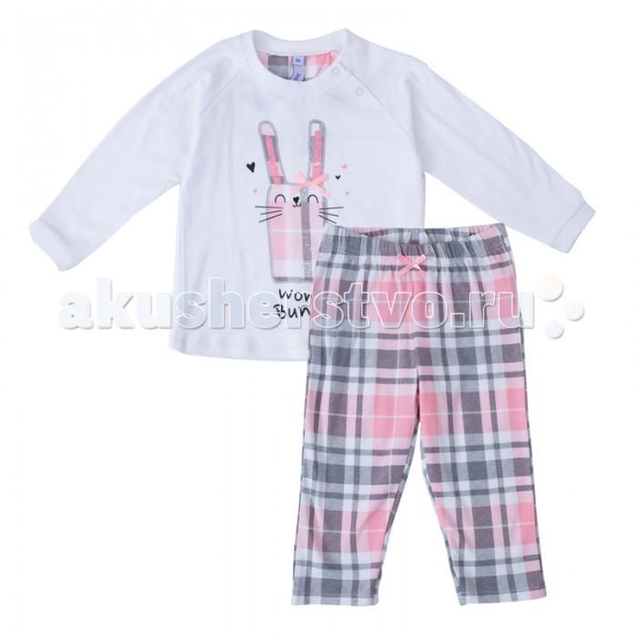 Комплекты детской одежды Playtoday Комплект для девочек (лонгслив, штанишки) Забавный кролик 188025