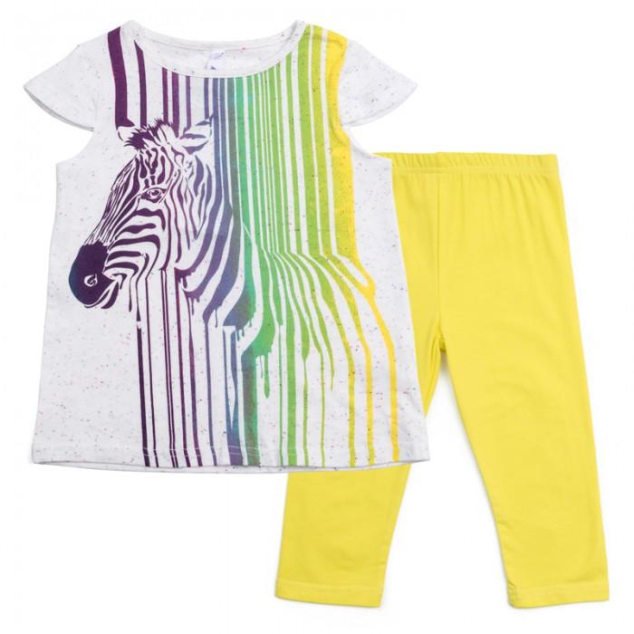 Комплекты детской одежды Playtoday Комплект для девочек (майка, леггинсы) Веселые старты 189010