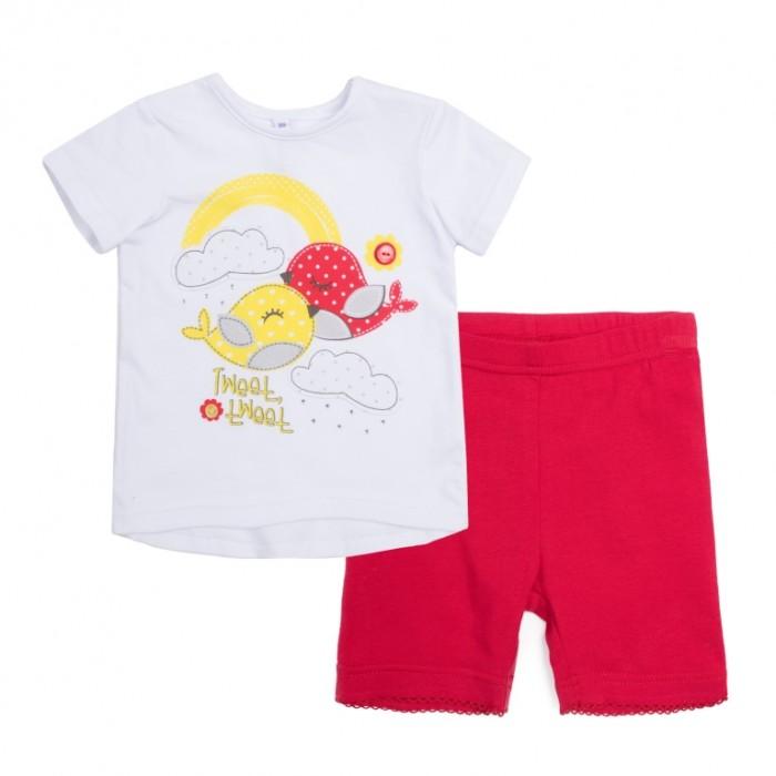 Комплекты детской одежды Playtoday Комплект для девочки Ромашковое лето (футболка, шорты) шорты