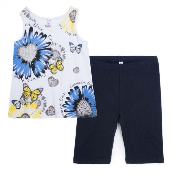 Комплекты детской одежды Playtoday Комплект для девочки Летний букет (майка, шорты) комплект майка шорты