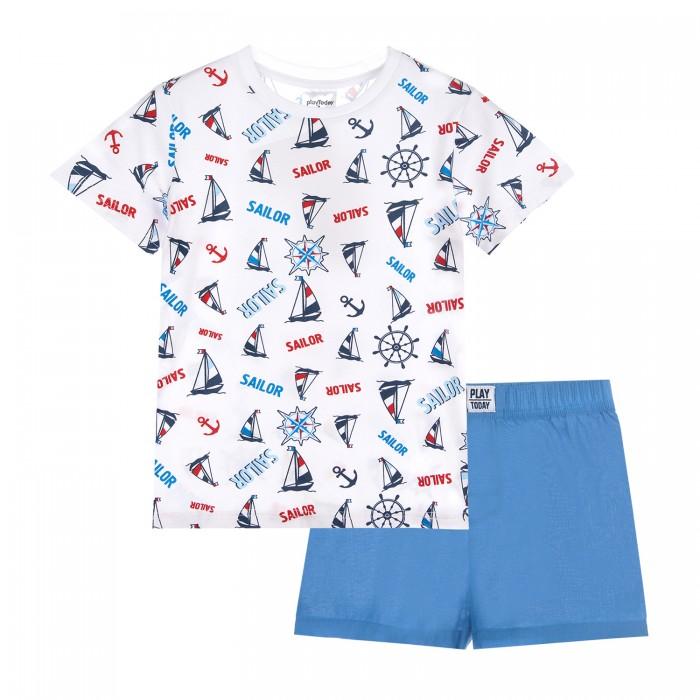 Комплекты детской одежды, Playtoday Комплект для мальчика (футболка и шорты) 12111008  - купить со скидкой