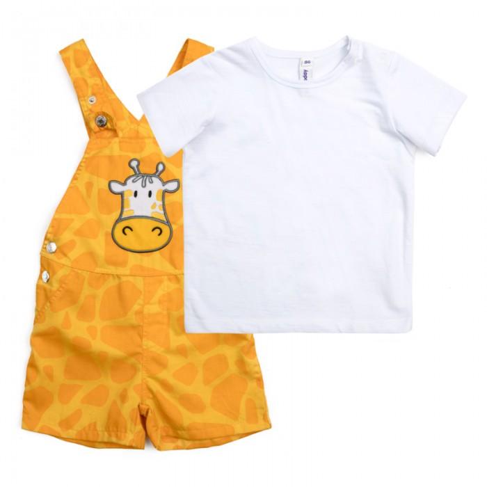 Комплекты детской одежды Playtoday Комплект для мальчика (футболка, полукомбинезон) Джунгли зовут! 187055 комплект luisa spagnoli одежда повседневная на каждый день