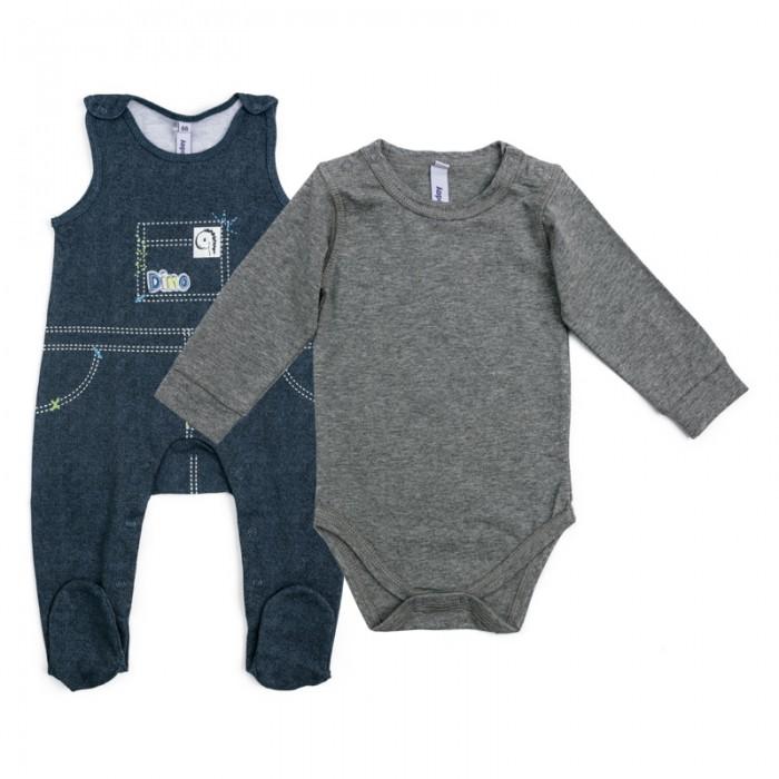 Комплекты детской одежды Playtoday Комплект для мальчиков (боди, полукомбинезон) Маленький динозаврик 187823 комплект luisa spagnoli одежда повседневная на каждый день