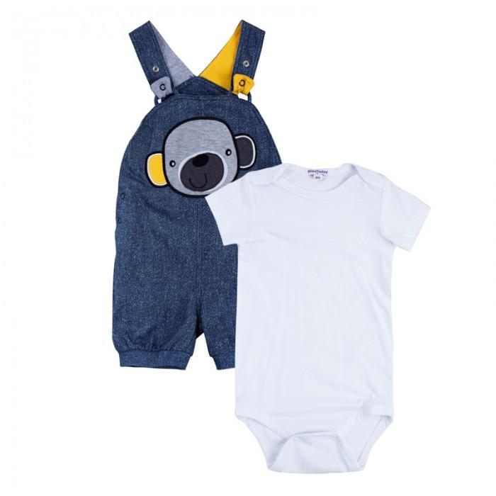 Комплекты детской одежды Playtoday Комплект для мальчиков (боди, полукомбинезон) Веселые джунгли 187857 комплект luisa spagnoli одежда повседневная на каждый день